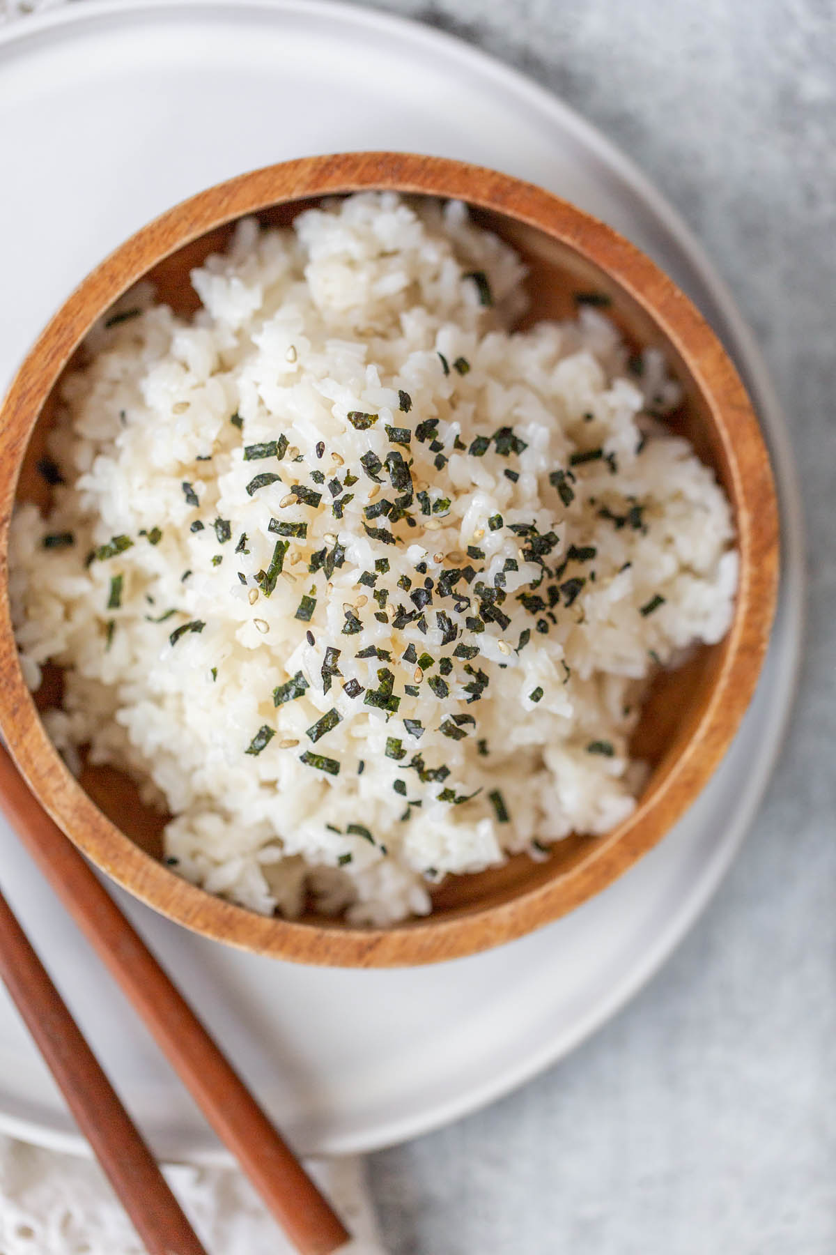 sesame rice in a bowl