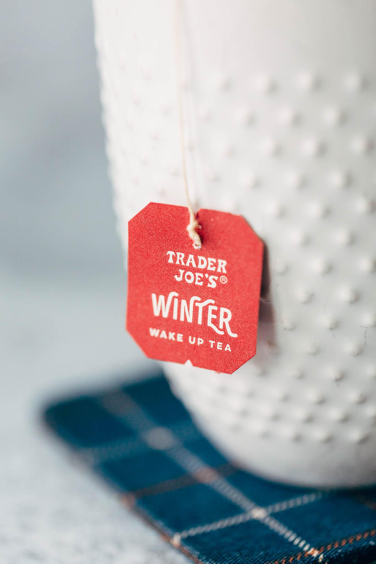 trader joes winter tea label