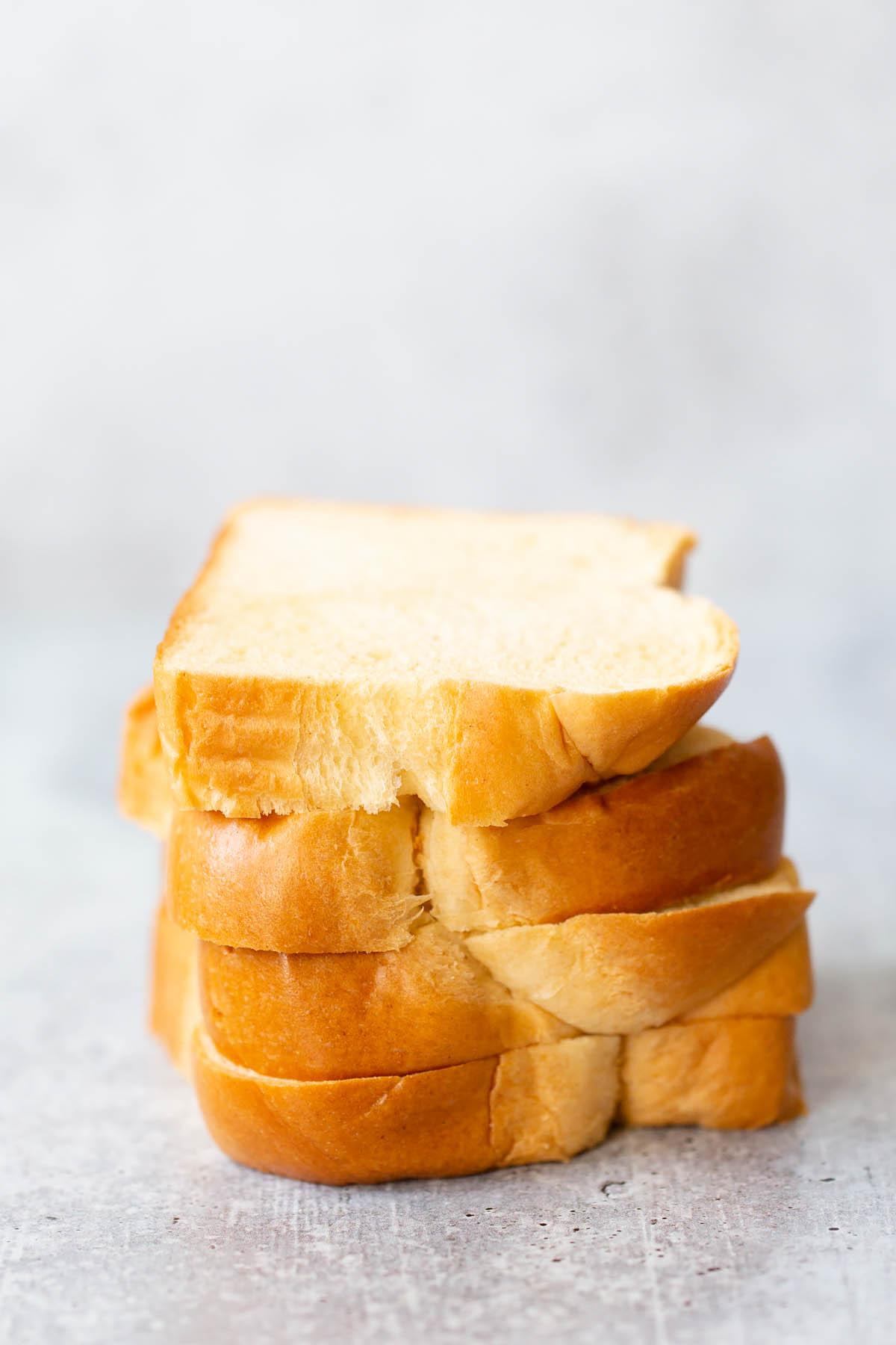 stack of brioche bread