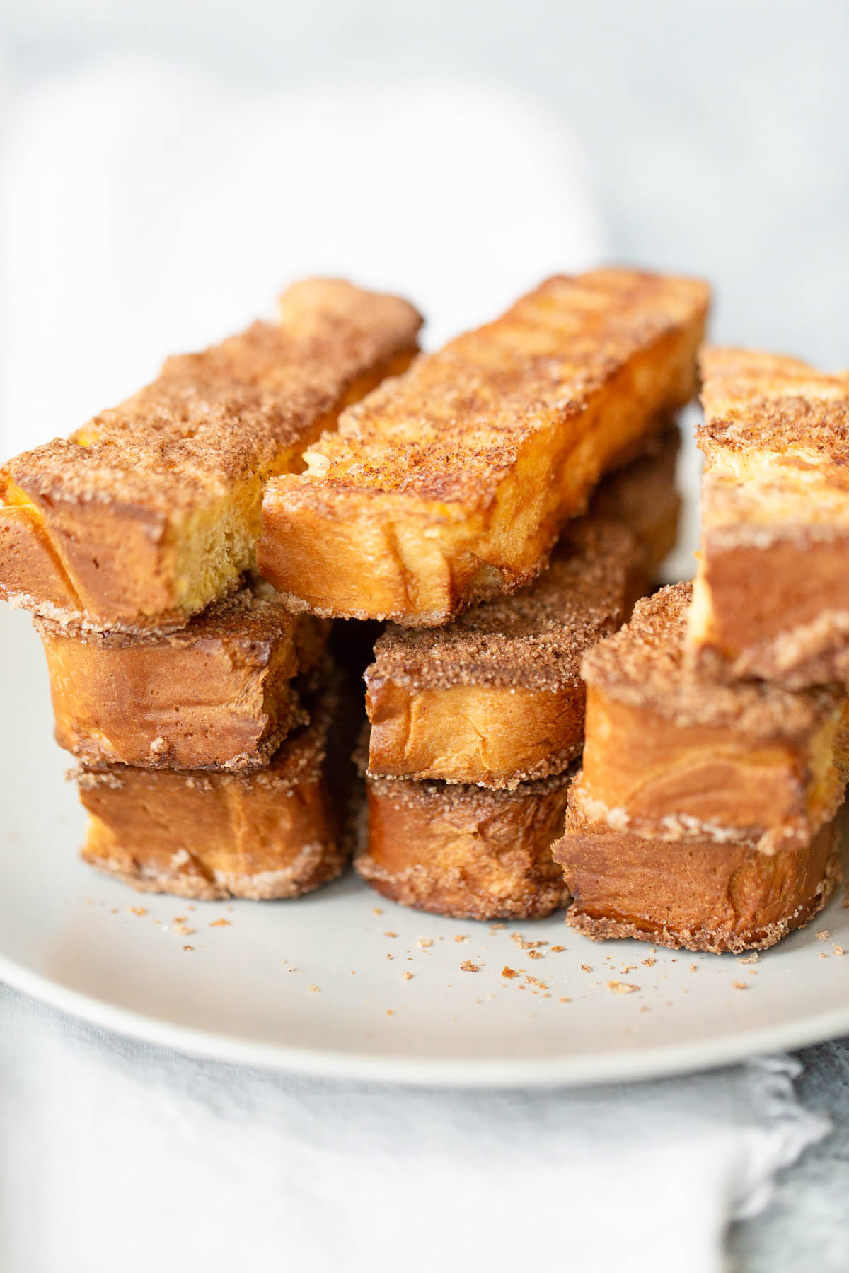 stacked french toast strips from the side