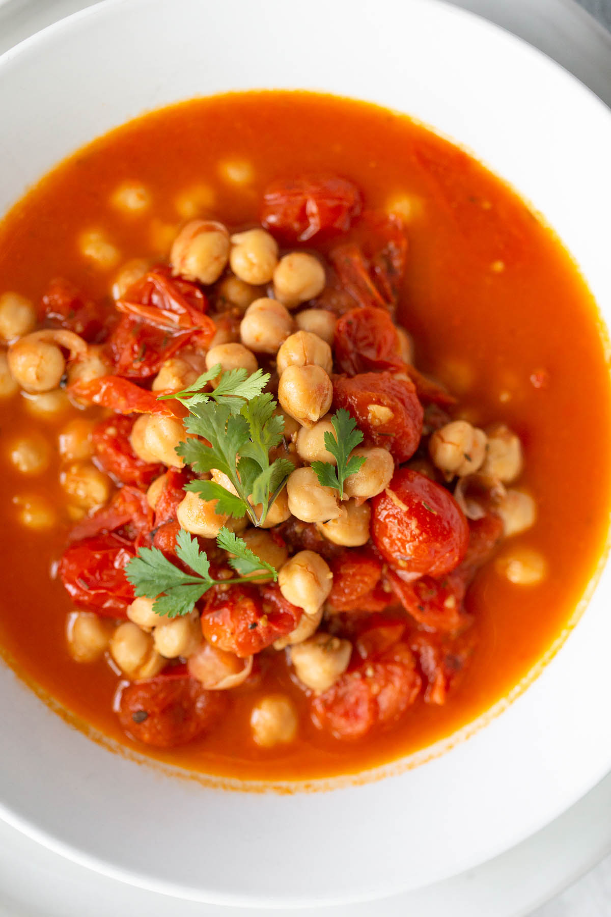 chickpea stew up close