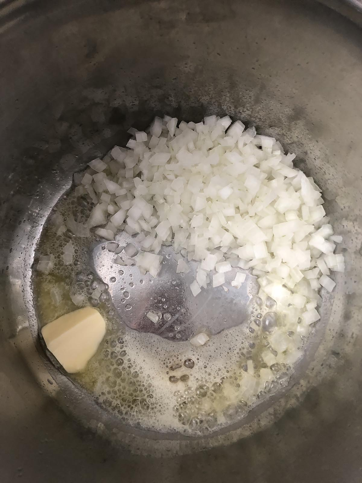 onions and butter