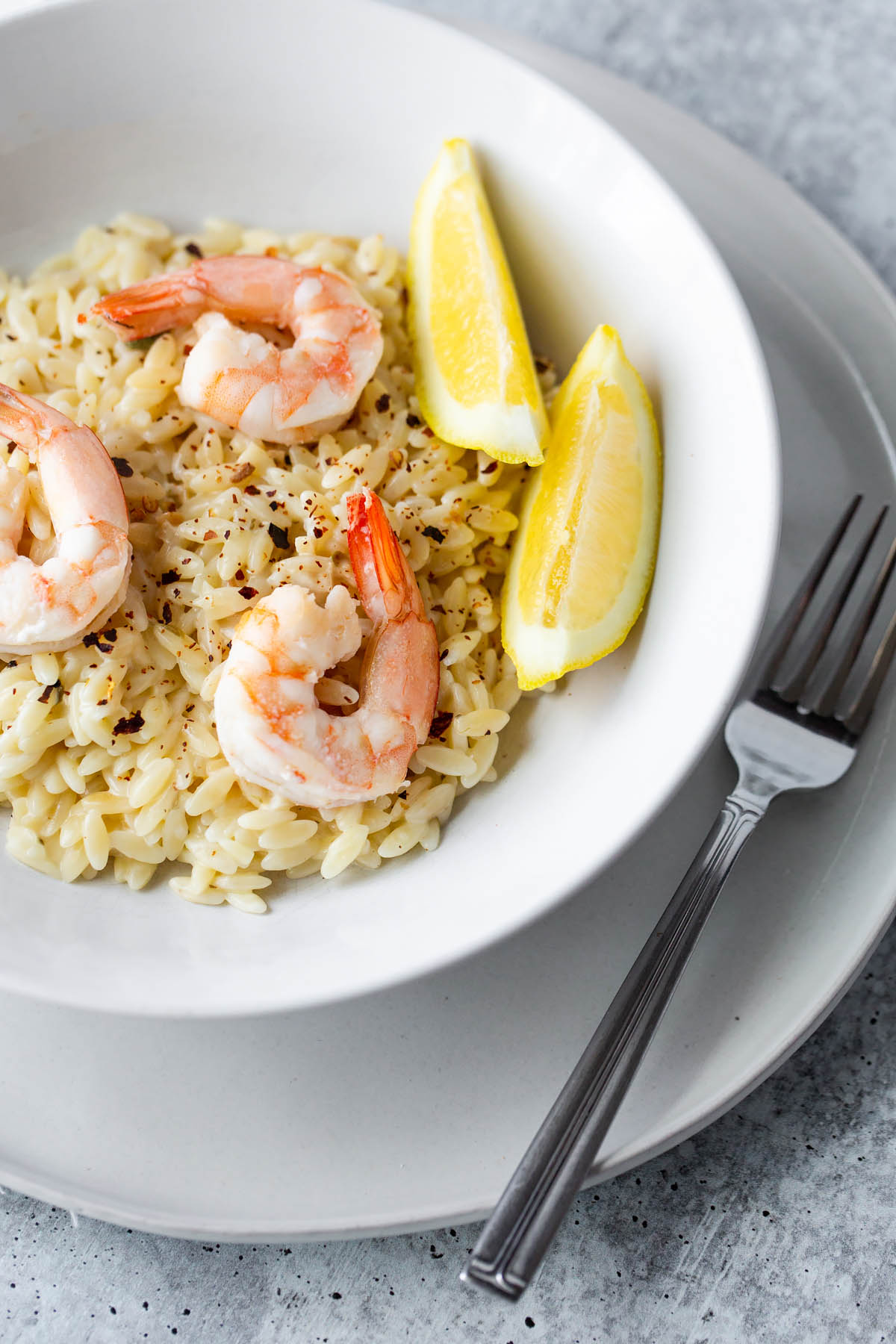 orzo with capers and shrimp