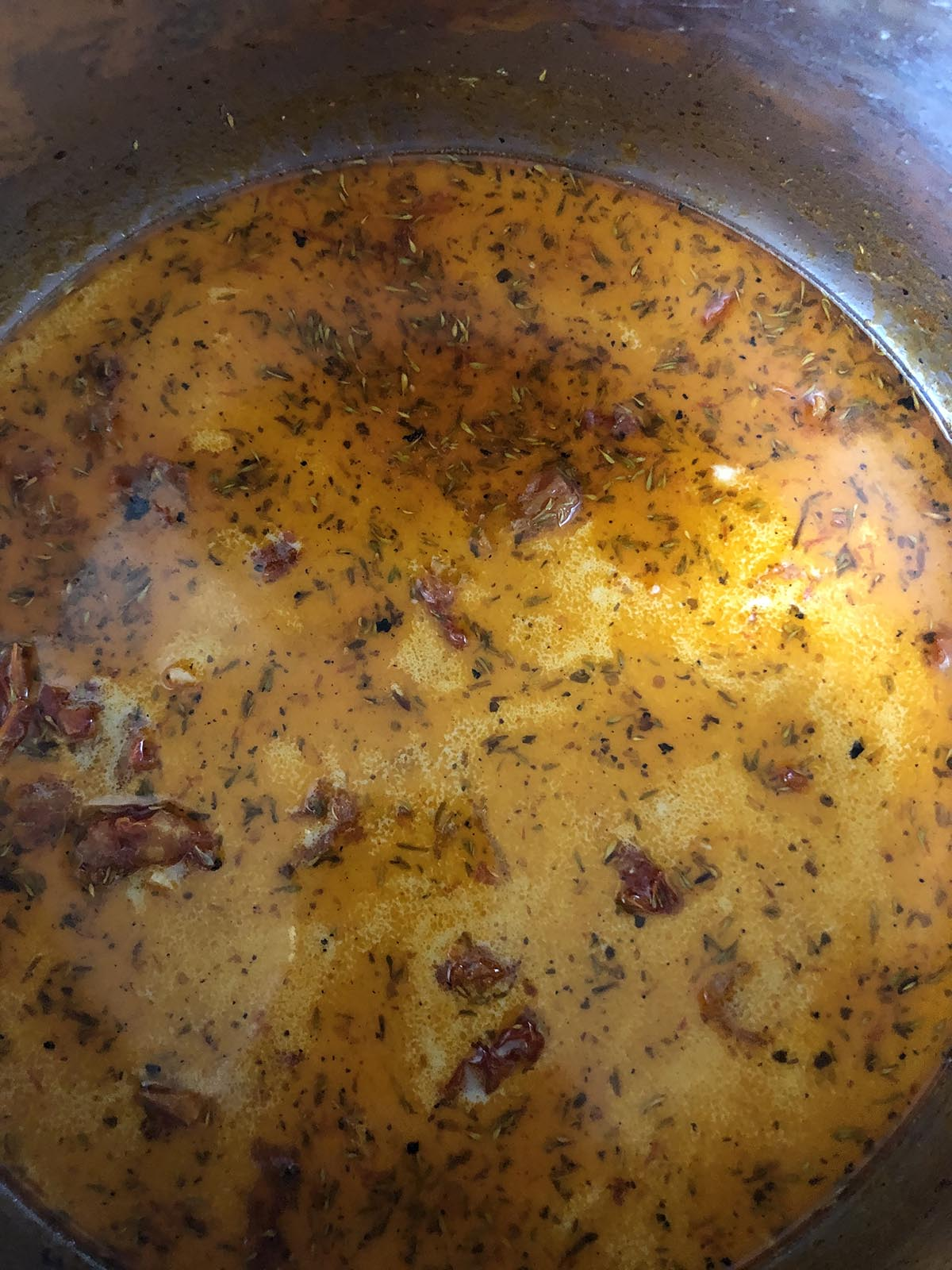 tuscan soup cooking