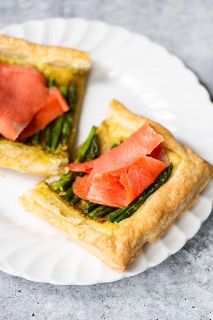 asparagus and smoked salmon tart