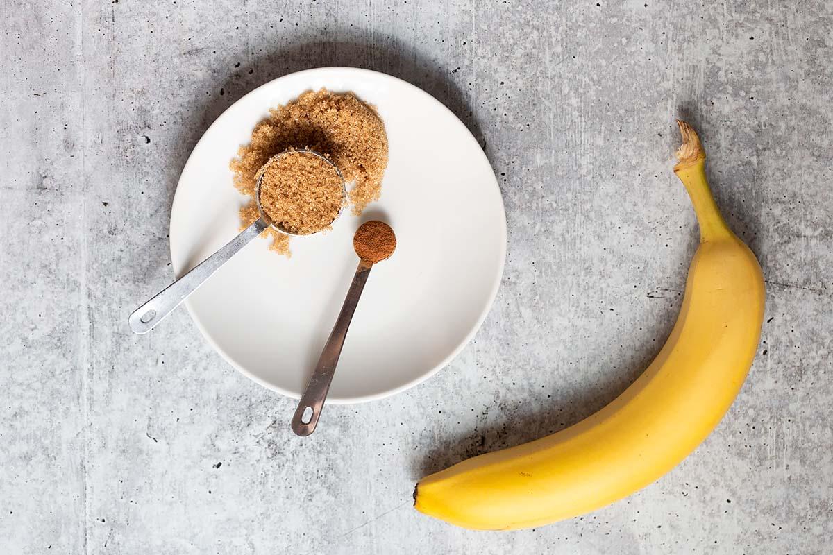 brown sugar, cinnamon, and a banana