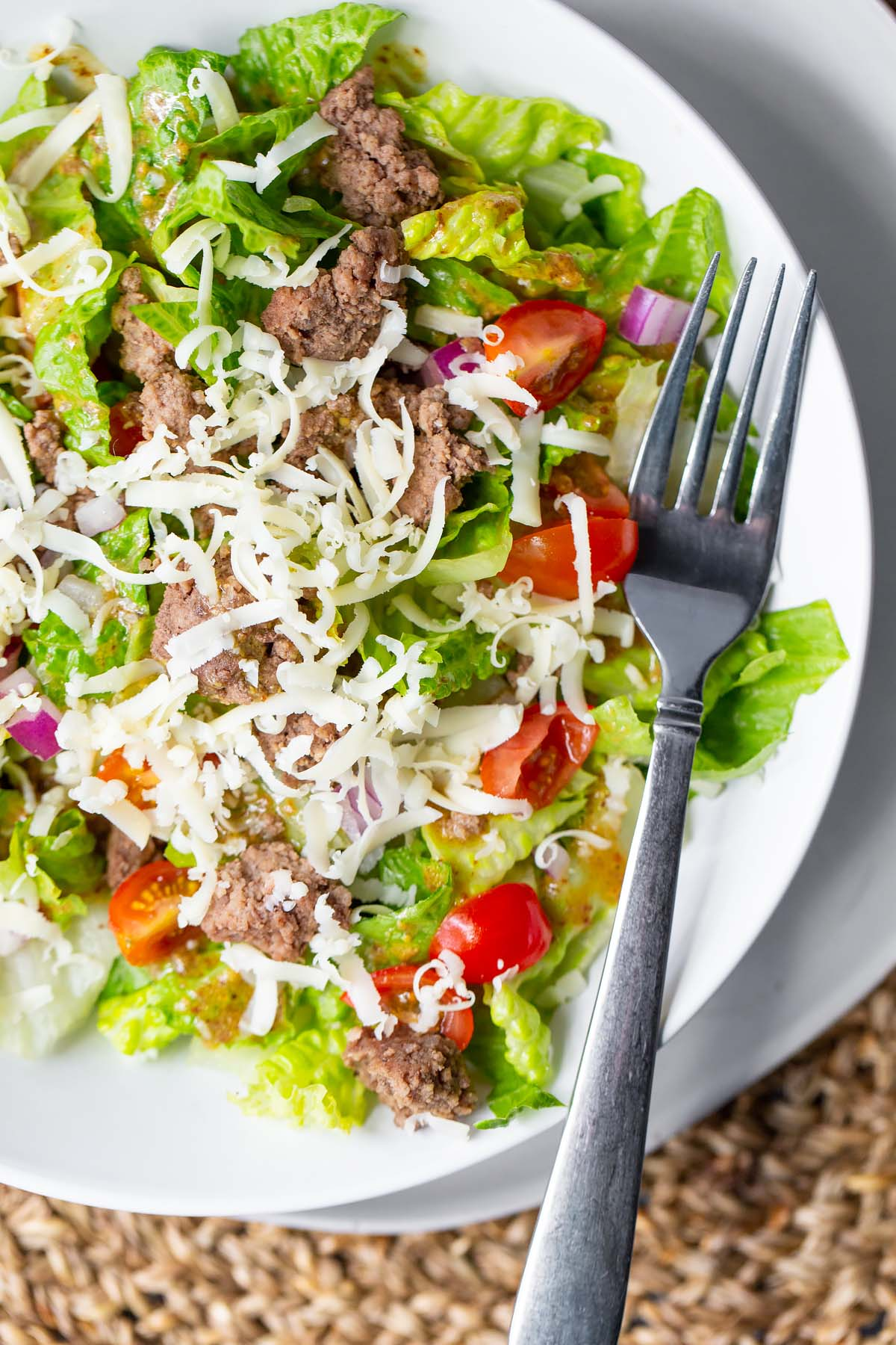 salad with tomatoes on a plate
