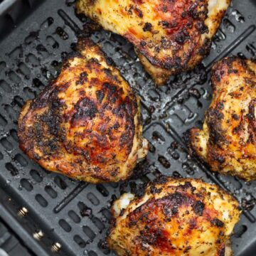 cooked chicken thighs in the air fryer