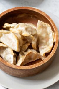 potstickers in a bowl