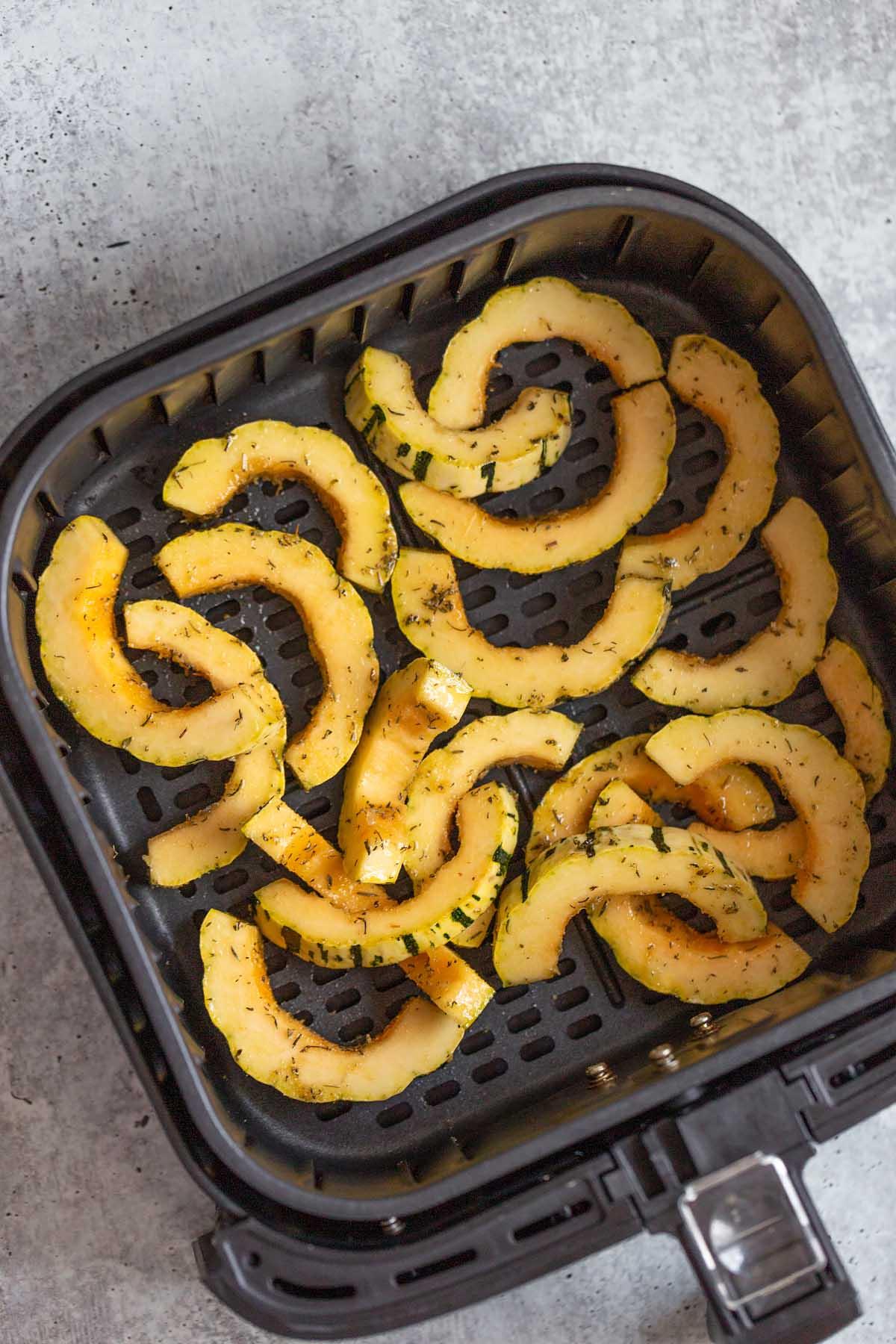 delicata squash in air fryer basket