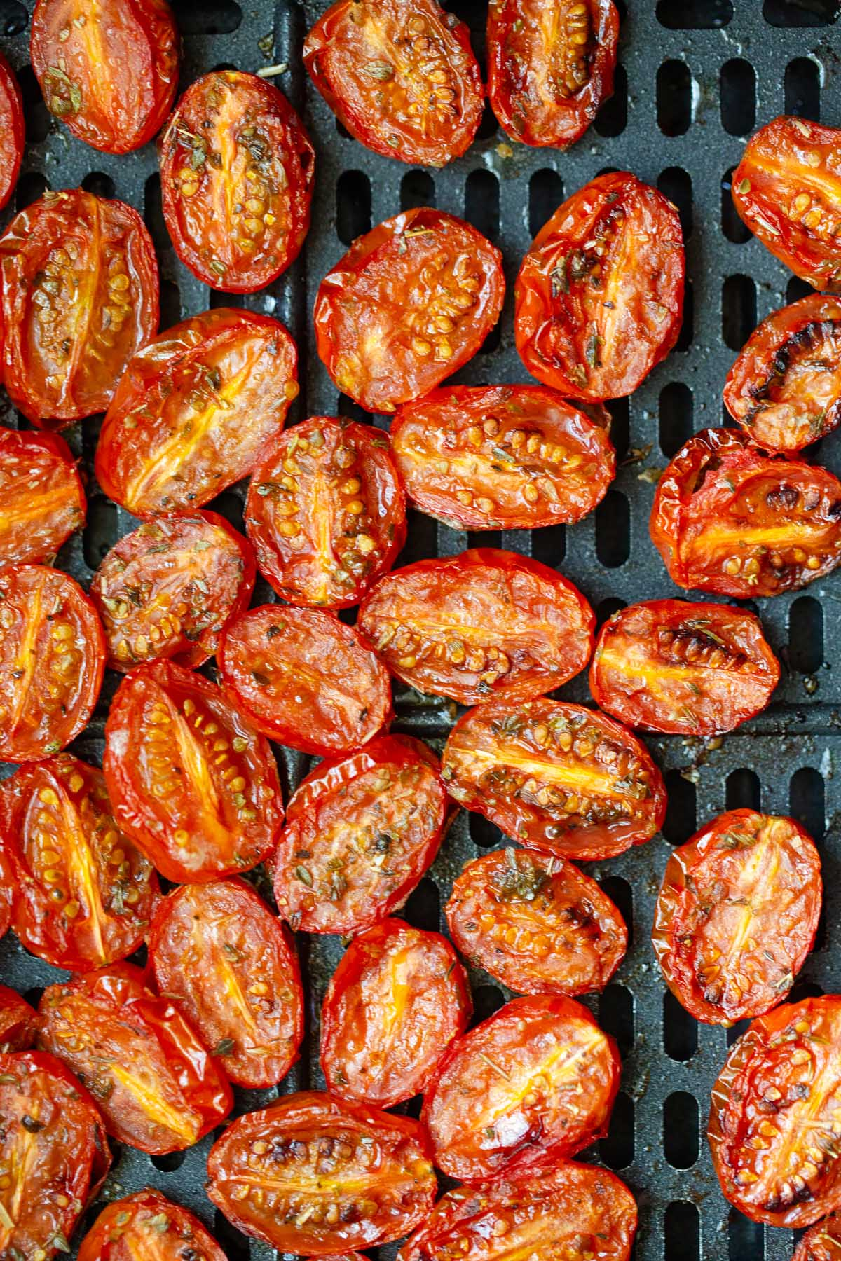 roasted tomatoes up close