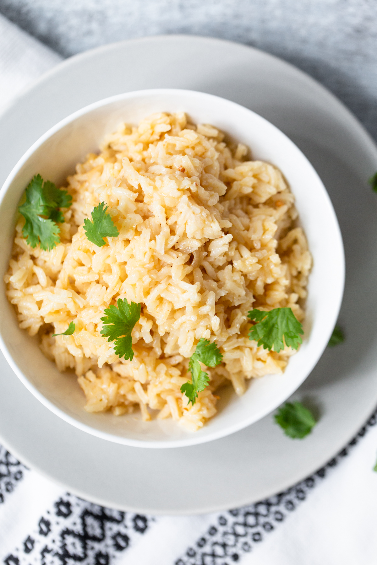 peri-peri rice from above