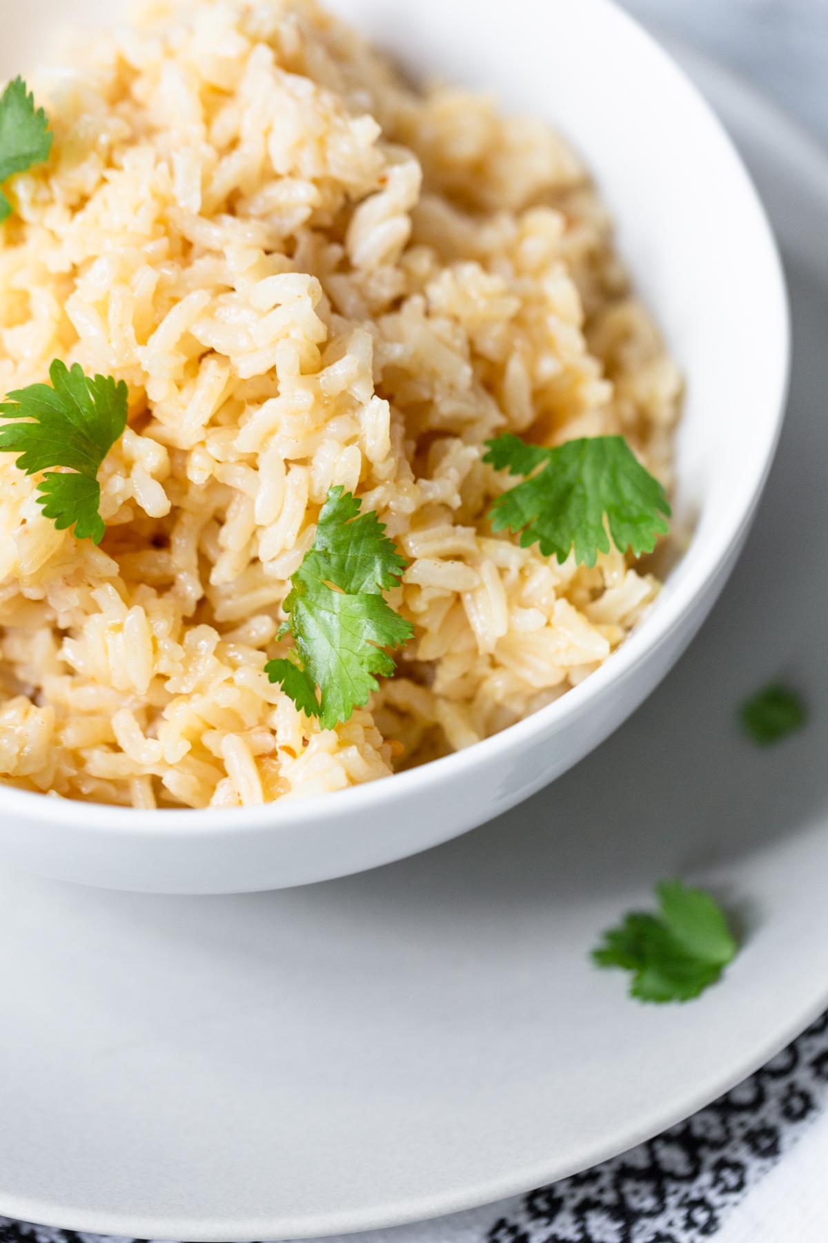 peri-peri rice up close